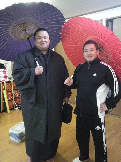 力士には番傘