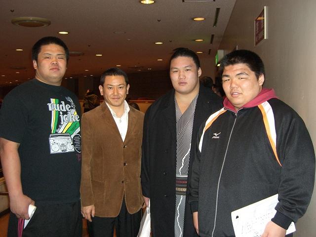 宮本(国体優勝) 豪栄道関(十両) 森本太良(学生横綱) 2006.12